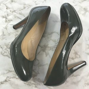 Kate Spade Green Patent Leather Round Toe Pumps